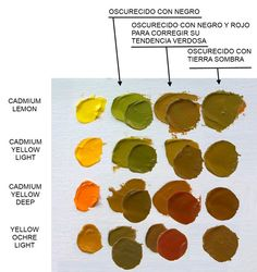 oscurece_amarillo Oil Painting Tips, Oil Painting Techniques, Painting & Drawing, Paint Color Chart, Color Mixing Chart, Design Lounge, Color Psychology, Color Studies, Make Color