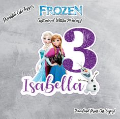 Printable Frozen Cake Topper Style 2, Frozen Party Sign,Frozen Birthday, Frozen Topper, Frozen Digital Download,Frozen Party,Frozen Birthday by ThistlePartyDesigns on Etsy Frozen Birthday Theme, Frozen Theme, Frozen Party, Boy Birthday, Car Cake Toppers, Frozen Cake Topper, Birthday Cake Toppers, Cars Birthday Invitations, Etch A Sketch