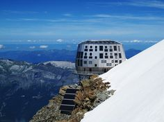 refuge du gouter: mountain hut by groupe h on mont blanc