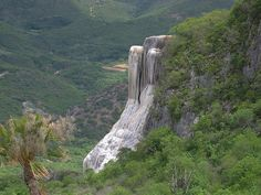 Valle de Mitla - Petrified waterfall + natural pools on top of the mountain @ Oaxaca, Mexico