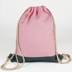 Drawstring Backpack, Gym Bag, Backpacks, Cotton, Pink, Bags, Sculpture, Shop, Gymnastics