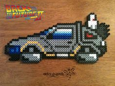 Delorean - Back to the Future II perler beads by RockerDragonfly