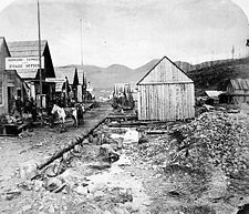 1865 Barkerville, Cariboo Gold Rush in British Columbia, Canada Ruée Vers L'or, Fraser River, Gold River, The Great Fire, Canadian History, American History, Native American Photos, Le Far West, Gold Rush