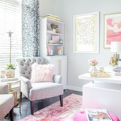 This office space is just too pretty! : @polishedhabitat