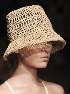 66e43367 Loosely woven bucket hat, Rachel Comey Hat Making, Crochet Summer Hats,  Crochet Hats