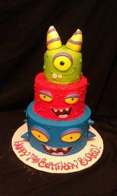 Cute Monster Birthday Cake