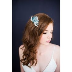 Blue crystal quartz hair comb style 3001 ($125) found on Polyvore featuring women's fashion, accessories, hair accessories, hair comb, blue hair accessories, beaded hair accessories, hair comb accessories and crystal hair comb