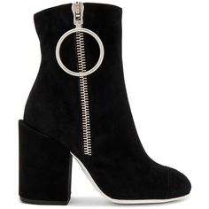 OFF-WHITE Suede Ankle Boots (1.535 BRL) ❤ liked on Polyvore featuring shoes, boots, ankle booties, heels, ankle boots, booties, suede booties, suede bootie, short heel boots and high heel bootie