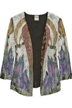 Haute Hippie Beaded Short Jacket
