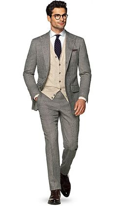Suitsupply Suits: Soft-shoulders, great construction with a slim fit—our tailored, washed and formal suits are ideal for any situation. Business Casual Men, Men Casual, Mens Dark Grey Suit, Formal Suits, Mens Suits, Perfect Fit, Suit Jacket, Blazer, Jackets