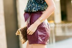 Summer Date Night :: Matrix sequin & High waisted shorts :: Outfit :: Top :: Rebecca Taylor Bottom :: Lovers + Friends Bag :: via Etsy Shoes :: Gucci Accessories :: cuff and rings thanks to Marie Todd, Meredith Hahn & Gorjana! Published: August 2, 2013