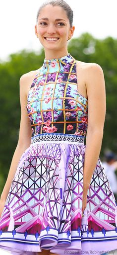 Street Style   Mary Katrantzou dress