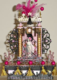 Burlesque queen mini-theatre/shrine Available https://www.zibbet.com/enchanted-revelries/vintage-burlesque-queen-miniature-shrine-handmade-ooak