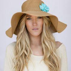 Oversized Floppy Sunhat Natural Sun Hat with Mint Flower Milliner Derby Women's Fashion Beach Cap Summer Shade Hat Oversized Brim Brown