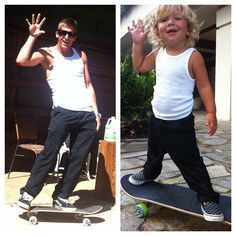 Andy Irons and his Son. Like father like Son!