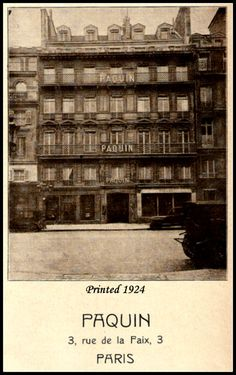 The Maison Paquin (House of Paquin) building in 1924.