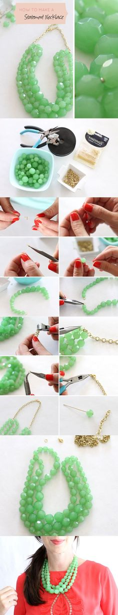 DIY! The Most Beautiful NECKLACE - Do It Yourself Ideas - Fashion Diva Design