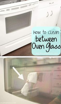 I never knew you could clean inside of oven door from underneath without taking it apart!!!!