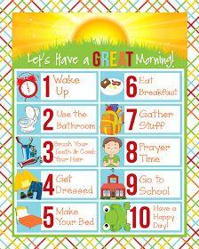 Morning checklist for kids!