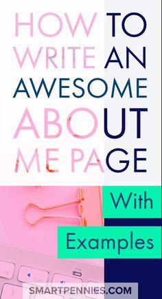 How to write an about me page. Find out how you to can create a killer ABOUT ME page including examples to help you out. If you need fresh ideas to help you create an Awesome About me page then this post will help you out with great tips. Blog Planner, Blog Writing, Writing Tips, Writing Desk, Writing Prompts, Writing Styles, Writing Strategies, Letter Writing, Marketing Strategies