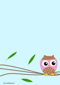 Free printable owl baby shower invitations