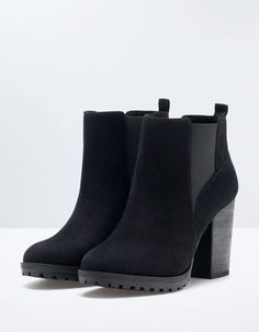 Bershka Belgium - Bershka elastic track ankle boots would love to have these !^^