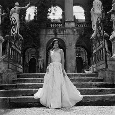 Dorian Leigh, Rome 1952  Genevieve Naylor  In formal evening wear by Giovannelli-Sciarra.