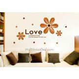 Love Is Pressing A Flower Wall Sticker