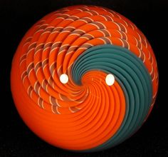 HOLLOW BORO GLASS MARBLE (MARBLES)  - RICHARD HOLLINGSHEAD II - ROUTE 66 GLASS #ROUTE66GLASSWORKS #Glass