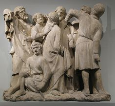 Relief of the Betrayal and Arrest of Jesus Made in Amiens,France 1264-88 Metropolitan Museum