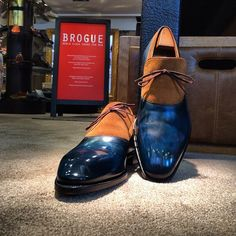 Jaw Dropping Mix .... Pierre Corthay - Blue Patina & Snuff Suede
