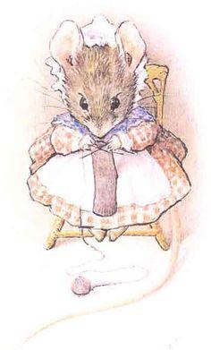 Beatrix Potter understood that mice enjoy crafting.