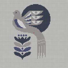 Bird Cross Stitch Pattern PDF Pillow Cover