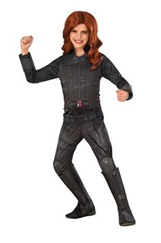 The Girls' Marvel's Captain America: Civil War Deluxe Girls Black Widow Costume has the classic look she'll love with a full body suit from head to toe. This costume makes shopping easy - she'll have a blast this Halloween. Black Widow Halloween Costume, Halloween Costumes For Kids, Halloween Party, Black Costume, Halloween 2016, Captain America Black Widow, Captain America Civil War, Avengers Costumes, Star Wars Costumes