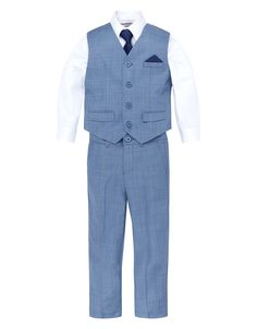Freddie Fashion Pale Blue 4 Piece Suit