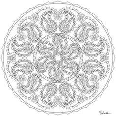 Don't Eat the Paste: Paisley Mandala Coloring Page