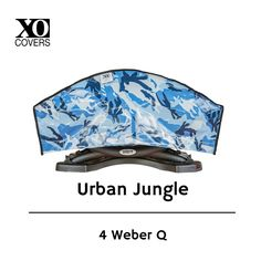 "Functional with attitude, adding personality to your outdoor living space.  Search ebay ""XO Covers Weber Q'"