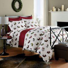 Scottie Flannel Bedding | The Company Store