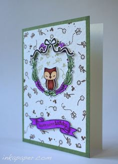 Another handmade birthday card using Mama Elephant Charmed clear stamp set.