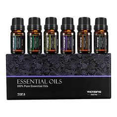 VicTsing Set of 6 Aromatherapy Essential Oils Pure Therapeutic Grade Gift Set for Women and Men(Orange Lavender Tea Tree Lemongrass Eucalyptus Peppermint Essential Oil Gift Set, 100 Pure Essential Oils, Vitamins For Hair Growth, Healthy Hair Growth, Rice Water Benefits, Coconut Oil Hair Growth, Orange, How To Grow Your Hair Faster, Eucalyptus