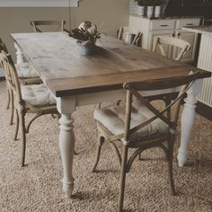 Stunning handmade rustic farmhouse table. Just the right accent piece to add to your home. The table is handmade, solid wood and treated with a lovely weathered stain. Has a protective finish to bring out the woods natural beauty. These rustic farmhouse tables can be customized with any dimensions as well as color combinations. Message me for more details.   Dimensions 84 long 30 tall 44 wide  Farmhouse table. Dinning table. table. Farmhouse. Rustic. Buffet. Sofa table. Table. Entry way…