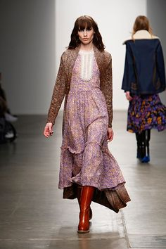 Boho Ditsy Florals Tiny florals make for a great almost-neutral all-over print that evokes a throwback hippie-child vibe. And, who says you can't wear maxis or flowers during the winter? Not Karen Walker, clearly.