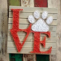 Love Paw String Art Sign