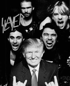 スレイヤー、物議をかもしたトランプ大統領の写真について釈明   Slayer   BARKS音楽ニュース