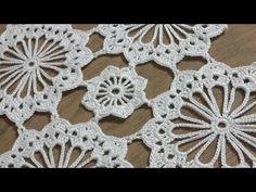 Crochet Doily Diagram, Crochet Flower Tutorial, Crochet Doily Patterns, Granny Square Crochet Pattern, Lace Patterns, Crochet Motif, Crochet Flowers, Crochet Stitches, Knit Crochet