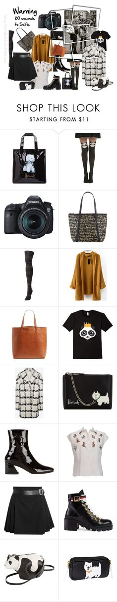 """""""60 Seconds to Selfie"""" by onenakedewe ❤ liked on Polyvore featuring Harrods, Hot Topic, Eos, MeMoi, WithChic, Madewell, Alexander McQueen, Dorateymur, Gucci and Loewe"""