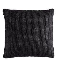 Image result for square black wool pillow