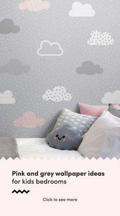 Super Bedroom Grey And White Wallpaper Ideas - Modern Pink Bedroom Design, Pink Bedroom Decor, Pink Bedroom For Girls, Pink Bedrooms, Trendy Bedroom, Bedroom Colors, Bedroom Kids, Bedroom Modern, Shabby Bedroom
