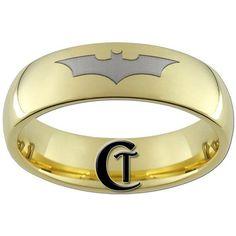 Batman wedding ring.