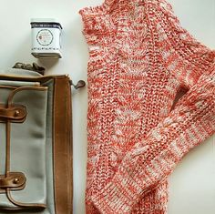 """HP Free People Knit Sweater Beautiful red and white sweater that will keep you warm without adding bulk! EUC. Tag is marked with black marker. Reduced from $50.  70% cotton 30% acrylic  21.5"""" length 16"""" bust 27"""" sleeve length Free People Sweaters"""